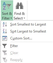 sorting button